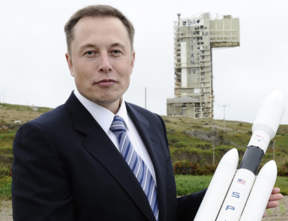 SpaceX Founder Elon Musk press conference at Vandenberg Air Force Base, California, America - 13 Jul 2011