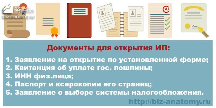 документы для открытия ИП