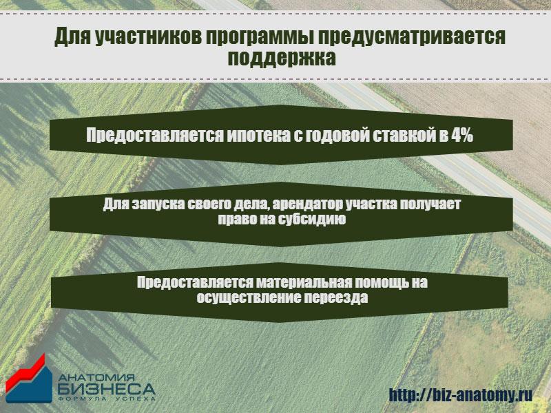 """Поддержка участников программы """"Дальневосточный гектар"""""""